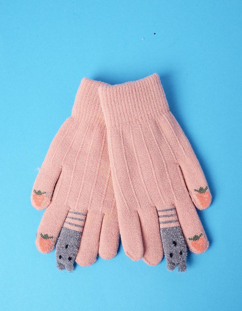 Рукавички з полуницею та звірятками на пальцях | 235297-71-XX