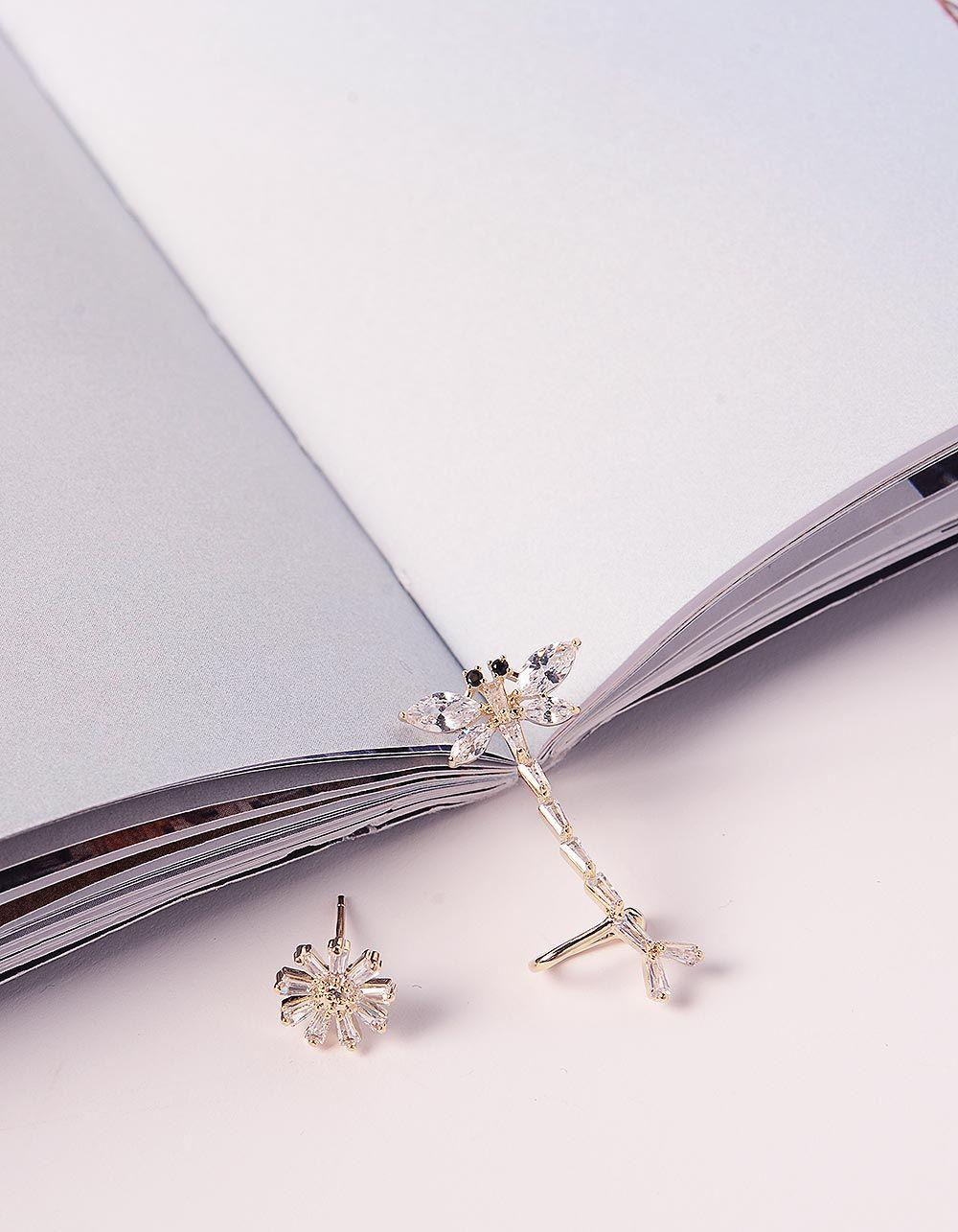Сережки у вигляді бабки та квітки | 240994-08-XX