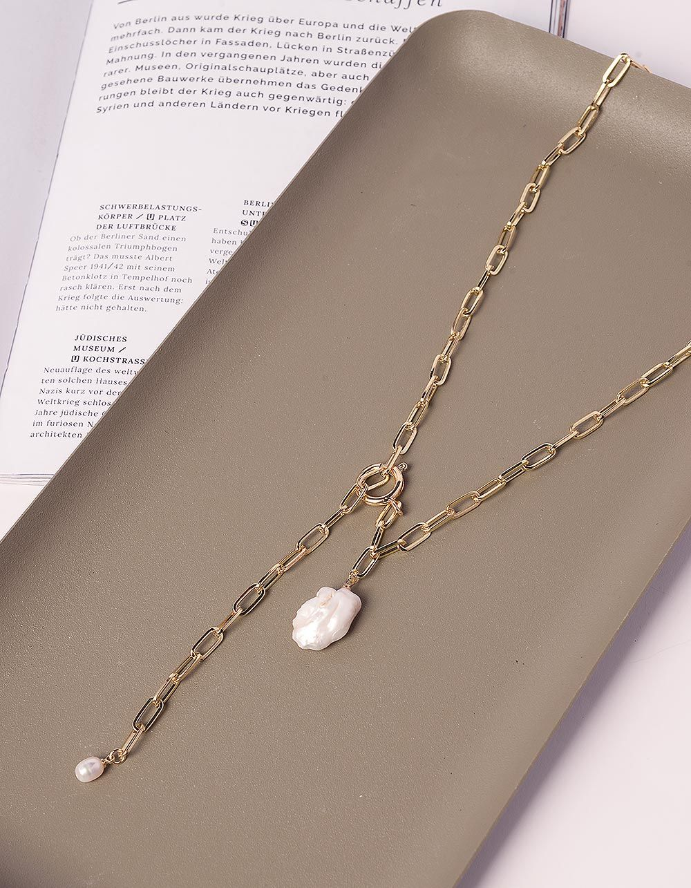 Підвіска ланцюжок з перлиною | 240365-04-XX
