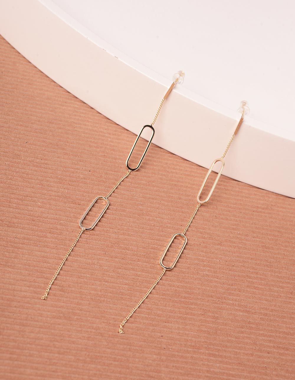 Сережки довгі у вигляді ланцюжка   240343-04-XX