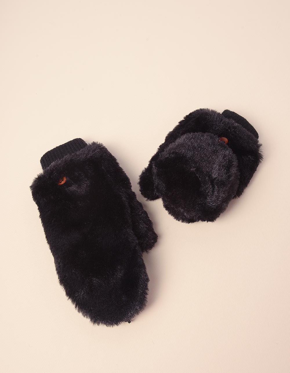 Рукавички мітенки теплі з гудзиками | 238477-02-XX