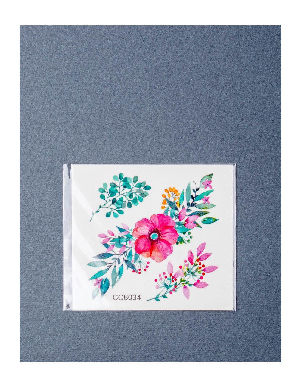 Татуировка временная с цветами | 219113-17-XX