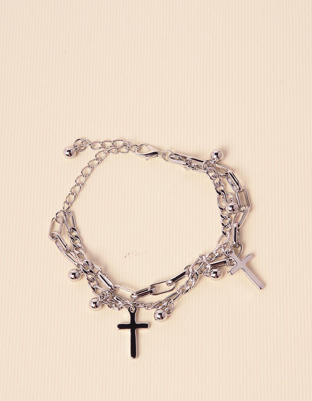 Браслет на руку із ланцюжків з хрестиками | 238573-05-XX