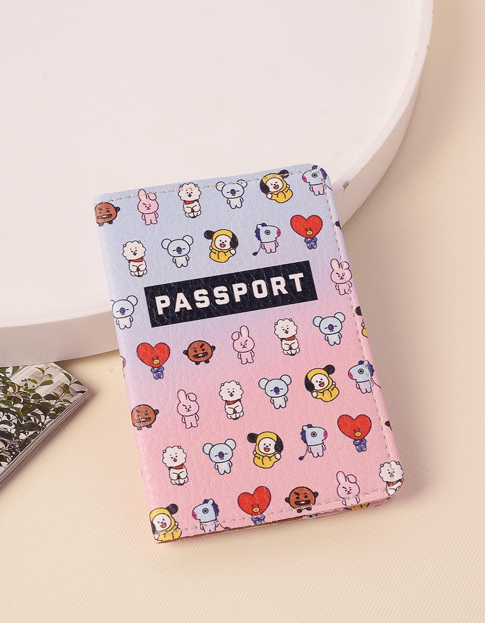 Обкладинка на паспорт з малюнком бтс   238411-21-XX