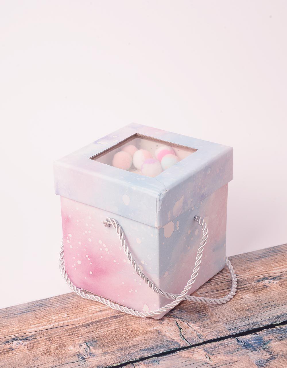 Коробка подарункова з кульками у кришці | 238461-18-XX