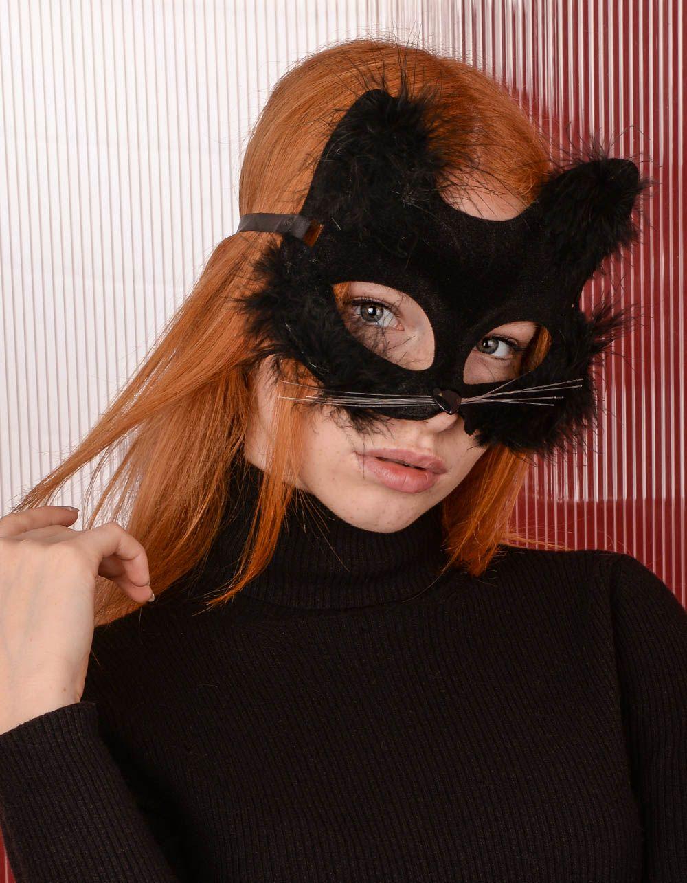 Маска карнавальна у вигляді кішки | 238990-02-XX