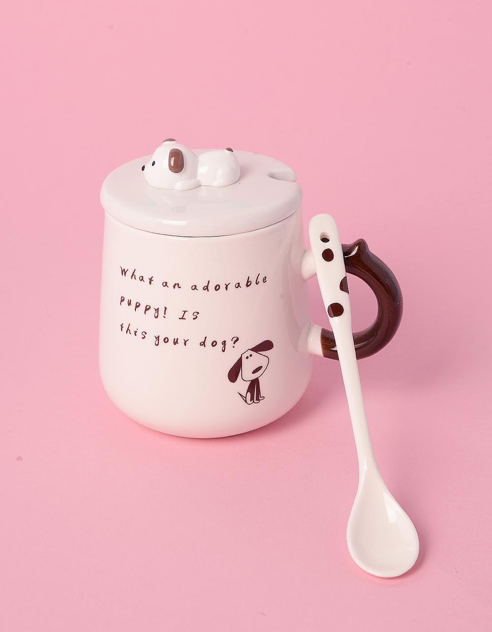Чашка з ложкою зі звірятком на кришці | 239027-12-XX
