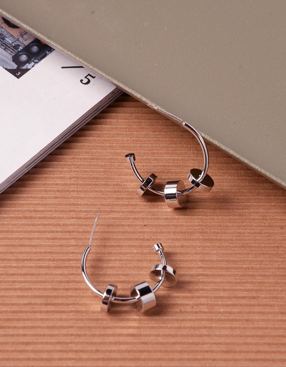 Сережки кільця з фурнітурою | 240590-05-XX