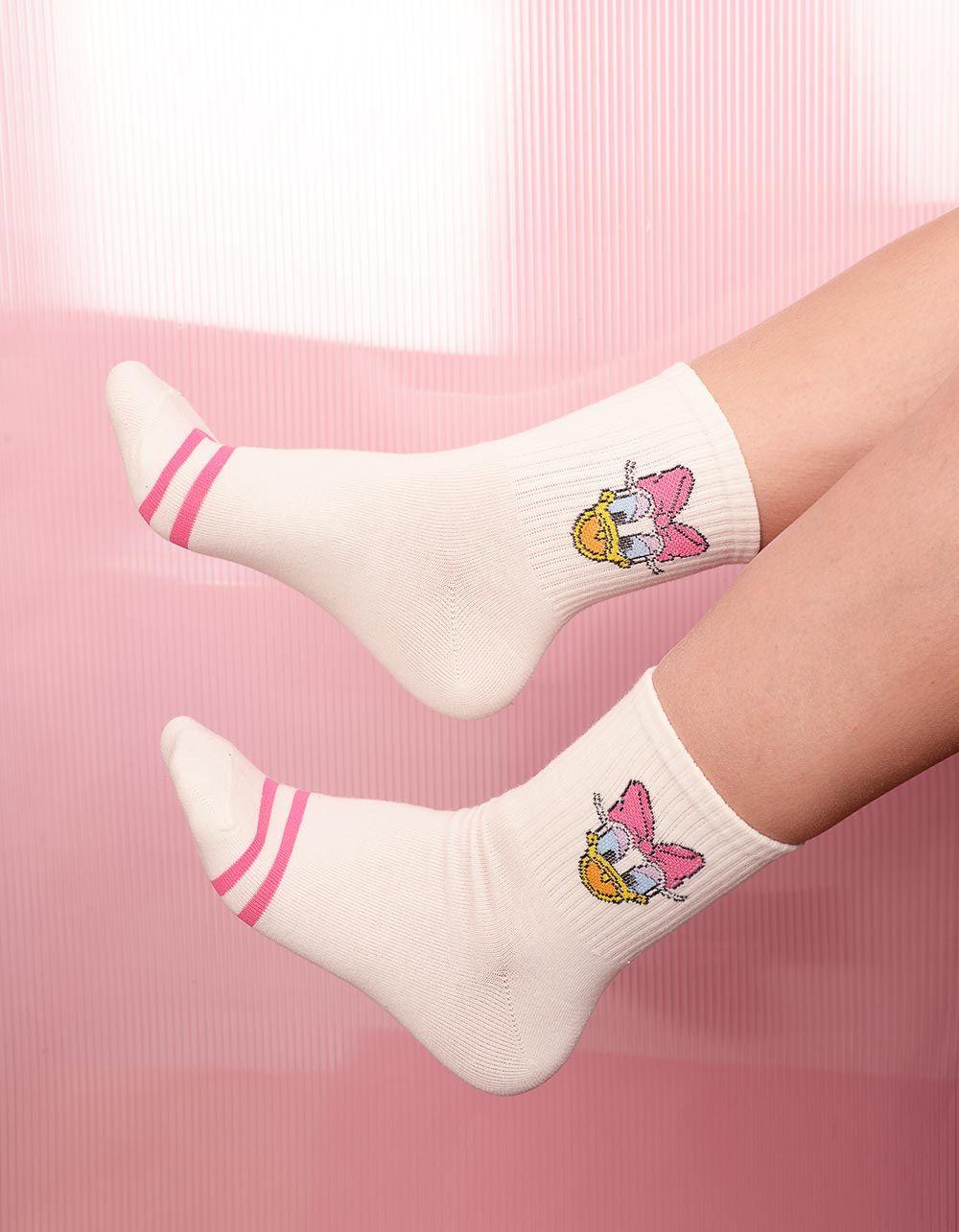 Шкарпетки з принтом мікі мауса у смужку | 238525-21-XX
