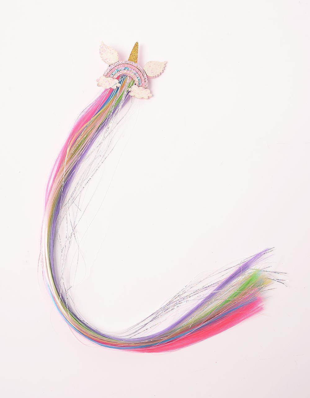 Шпилька для волосся з зірочкою, єдинорогом та кольоровим пасмом | 239523-51-XX