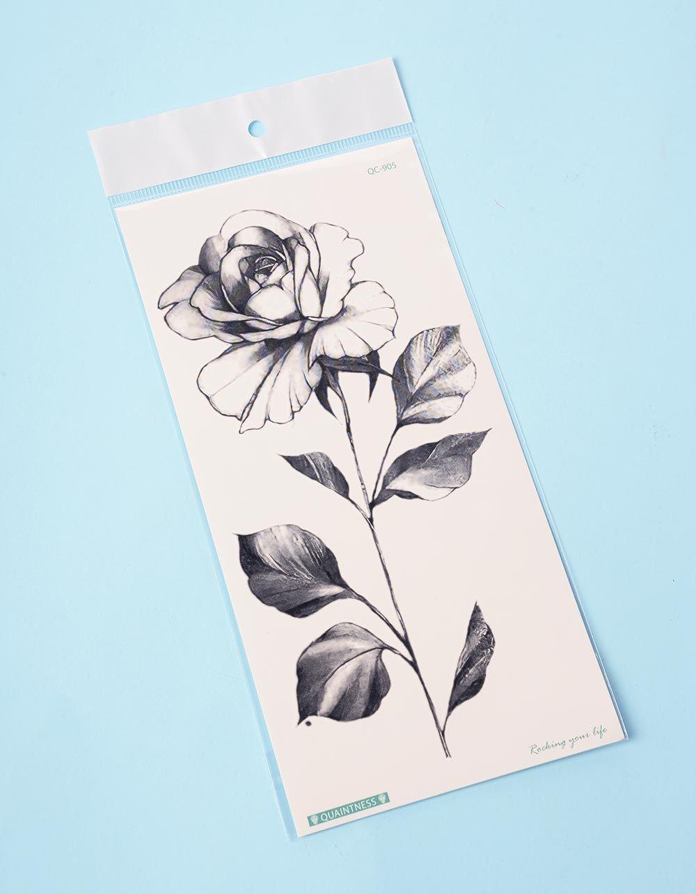 Тату тимчасове з трояндою | 236351-02-XX