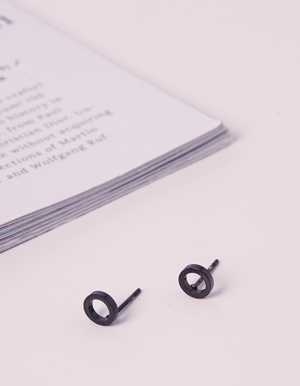 Сережки пусети з кільцями | 235939-02-XX