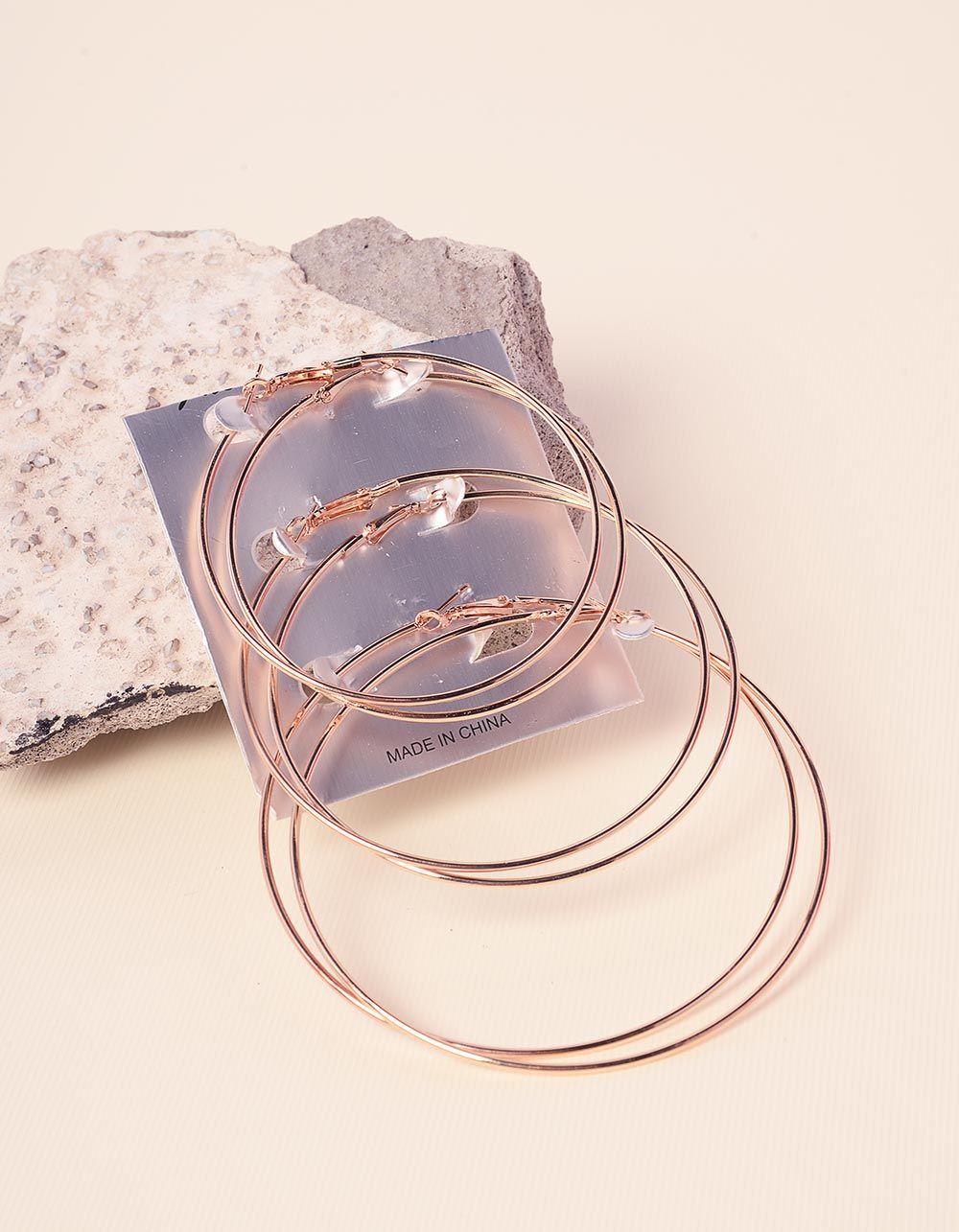 Сережки кільця в наборі | 237775-04-XX