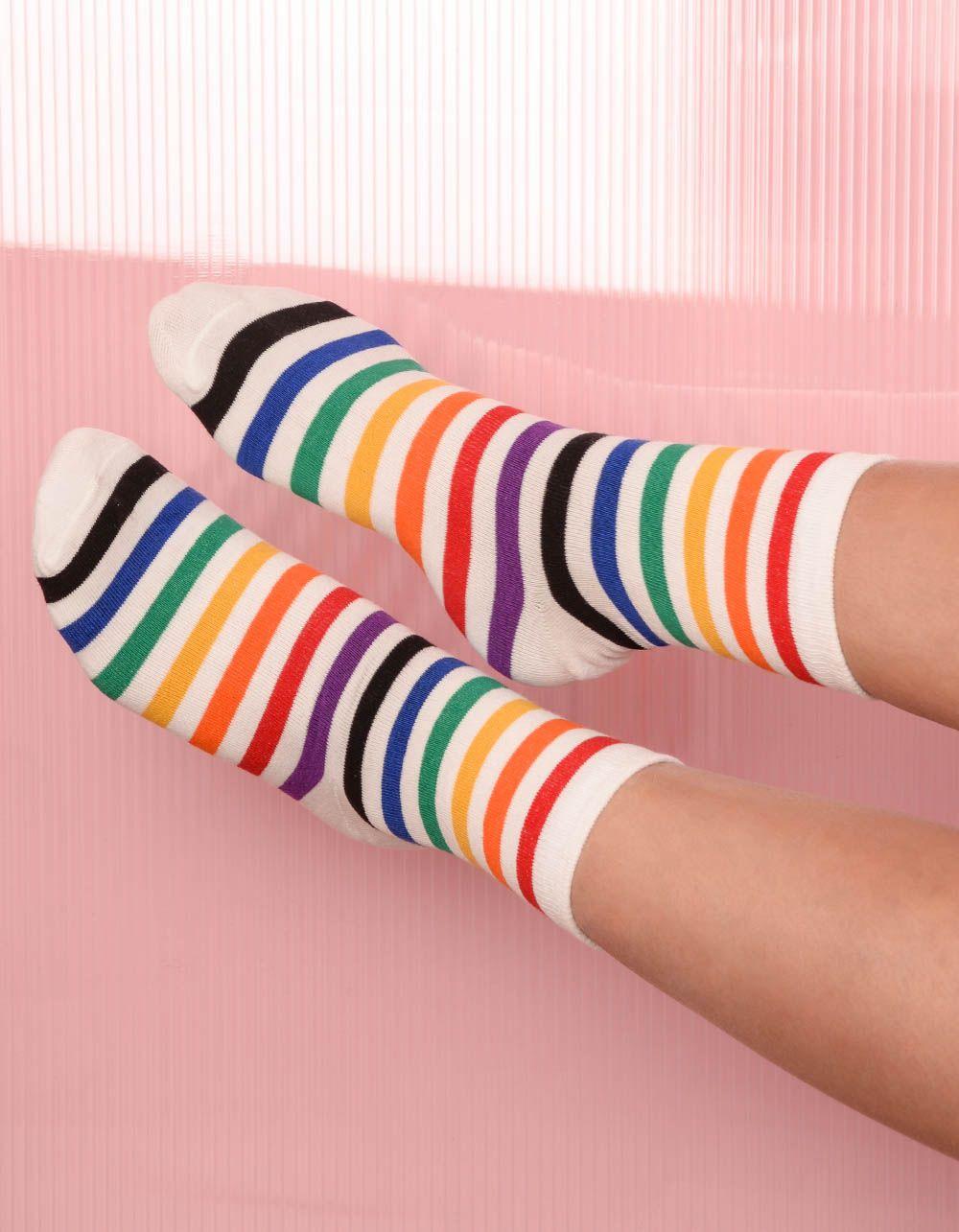 Шкарпетки у кольорову смужку | 238521-01-XX