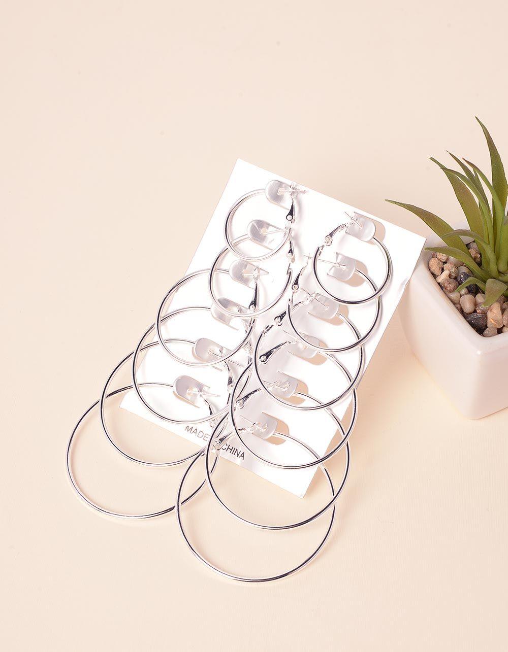 Сережки кільця в наборі | 232646-05-XX