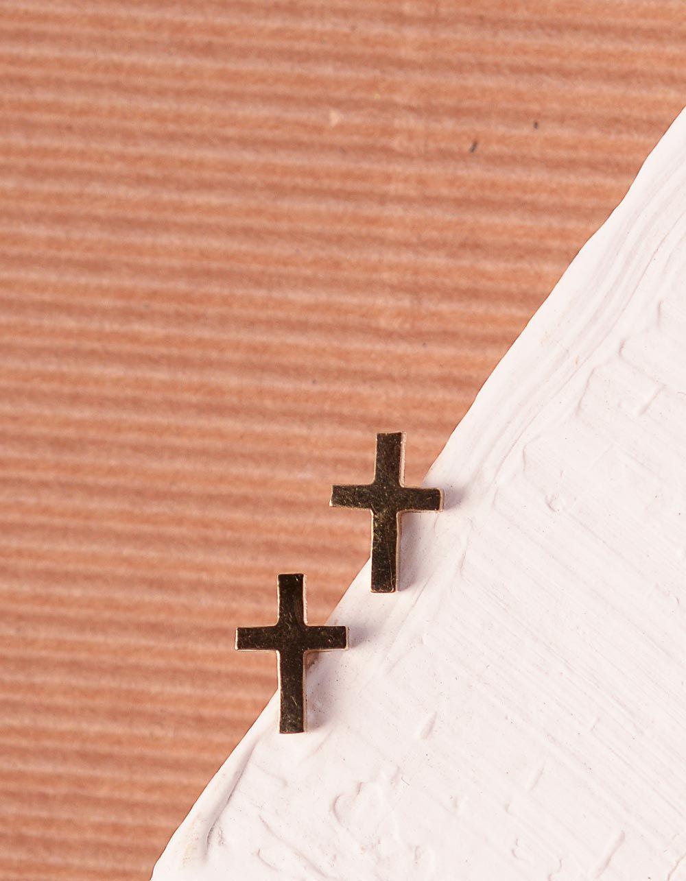 Сережки пусети з хрестами | 240283-04-XX