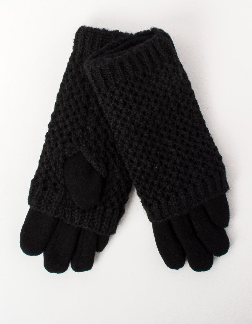 Перчатки крупная вязка с плюшевой подкладкой   213135-02-07