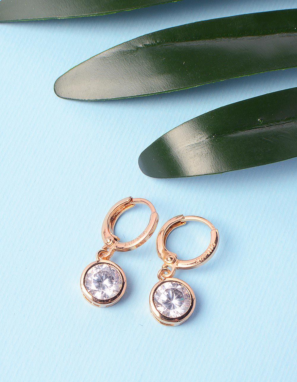 Сережки кільця з кристалами | 236172-08-XX