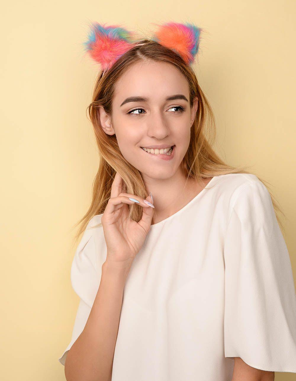 Обідок для волосся з кольоровими помпонами | 237767-21-XX
