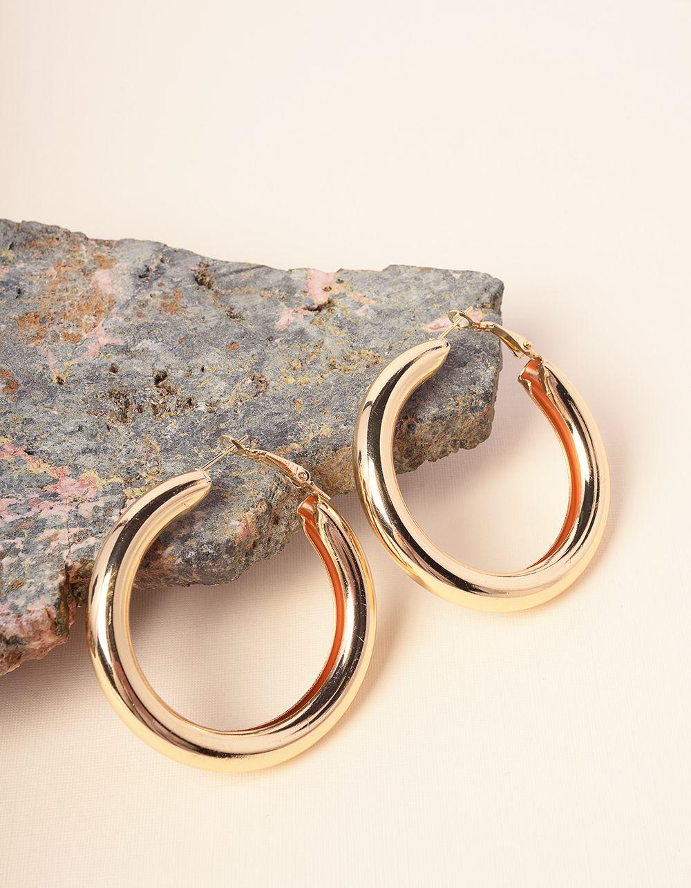 Серьги кольца крупные | 232969-04-XX