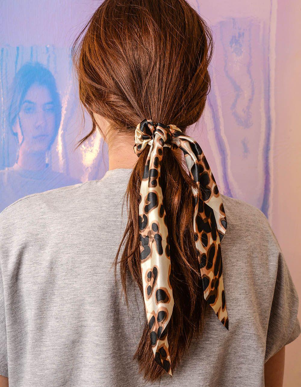 Резинка для волосся з леопардовим принтом | 240429-12-XX
