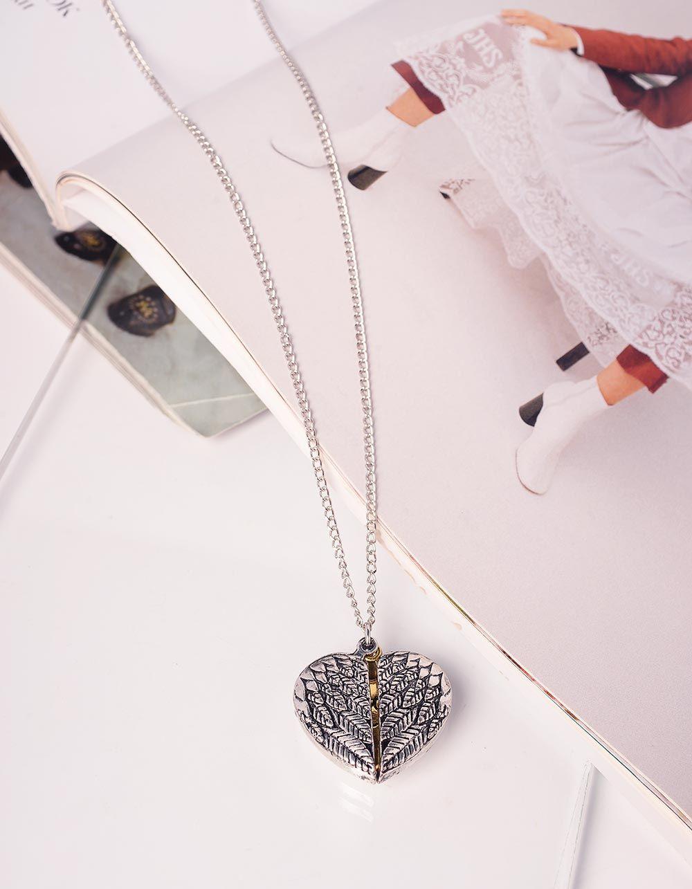 Підвіска на шию у вигляді серця з написом   239923-21-XX