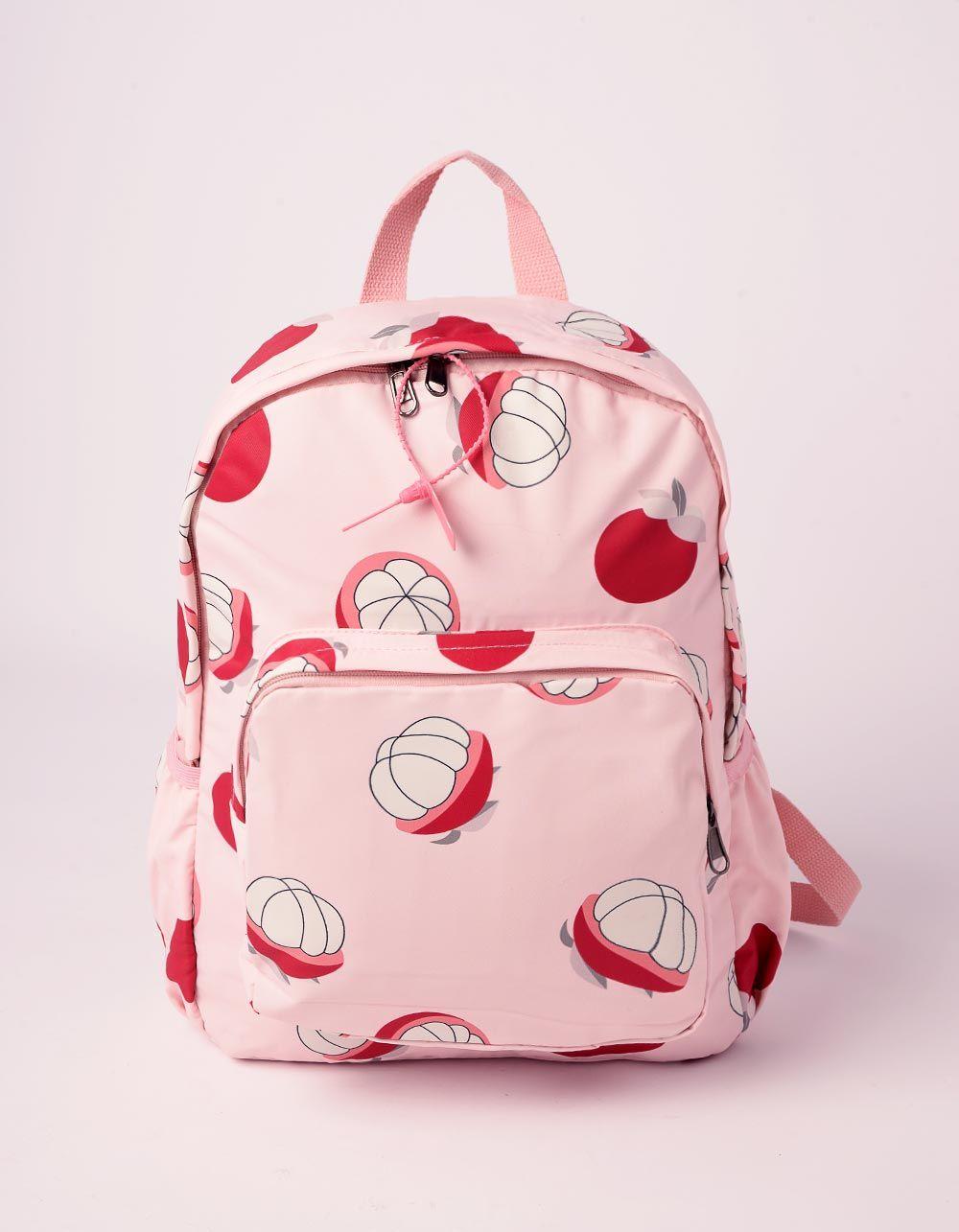 Рюкзак із тканини з принтом фруктів та квітів | 239348-14-XX