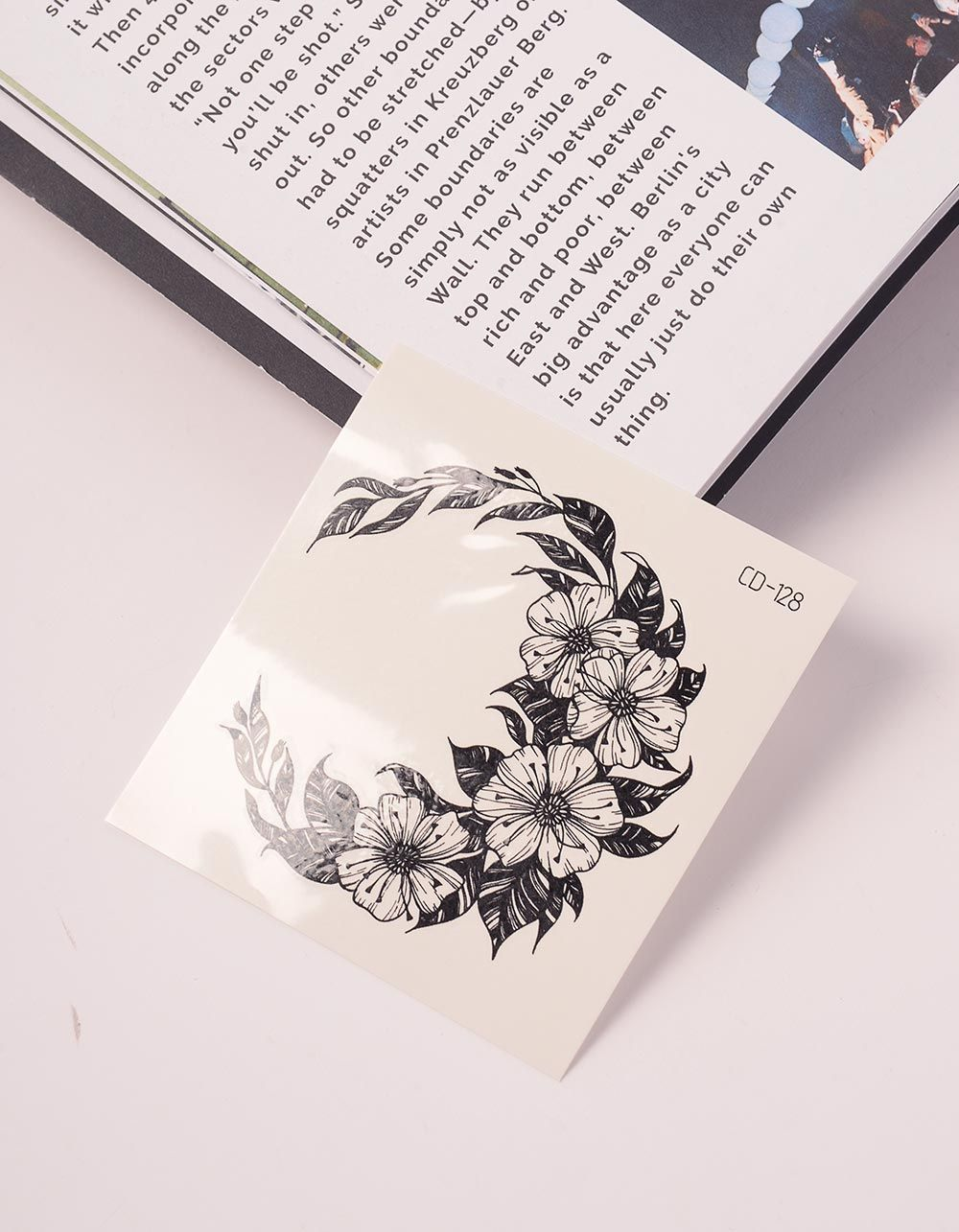 Тату на тіло тимчасове із зображенням квітів | 239060-02-XX