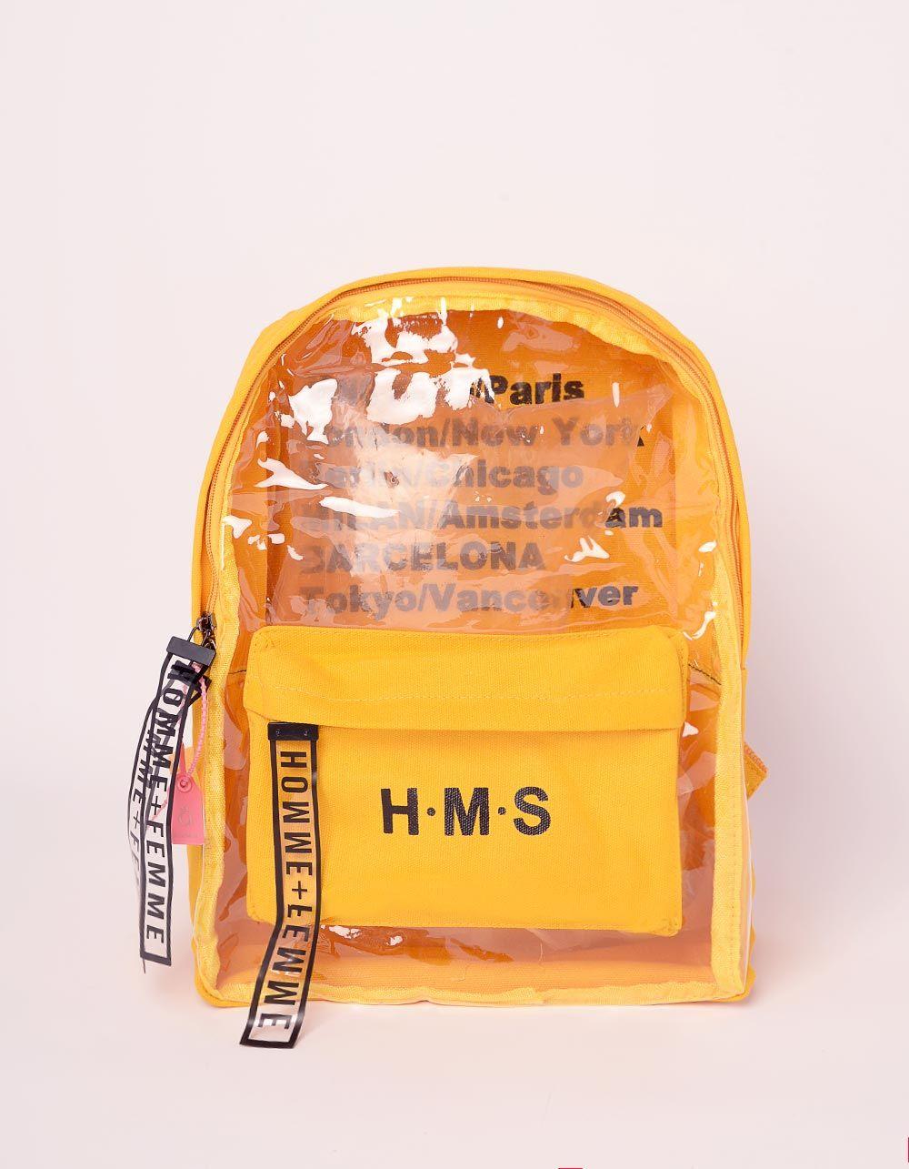 Рюкзак для міста з написом напівпрозорий | 239342-19-XX