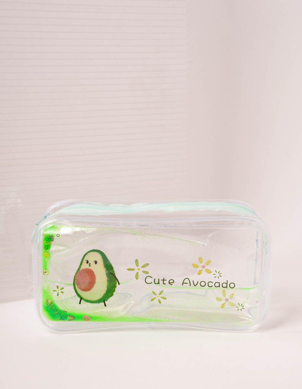Пенал прозорий з булькаючим авокадо | 238742-20-XX