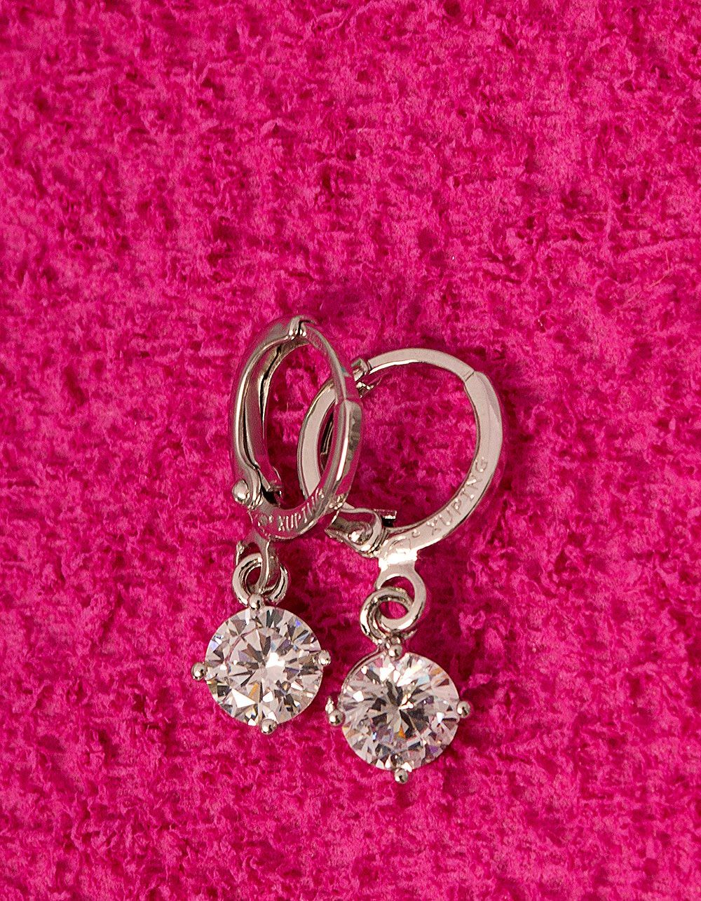 Сережки англійська застібка з кристалами | 228476-06-XX