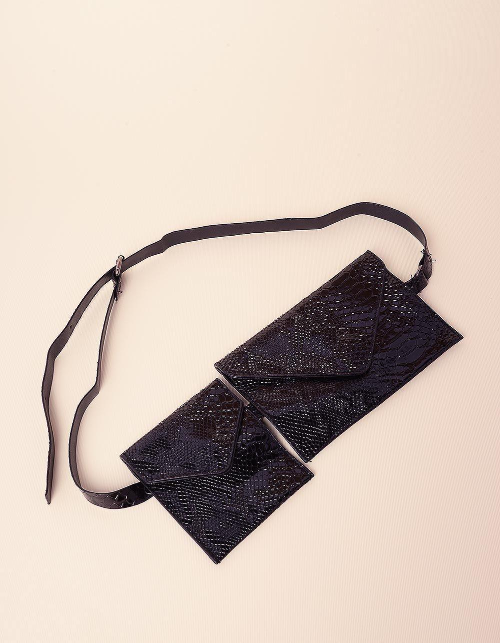 Сумка на пояс з гаманцем під шкіру крокодила   237437-02-XX
