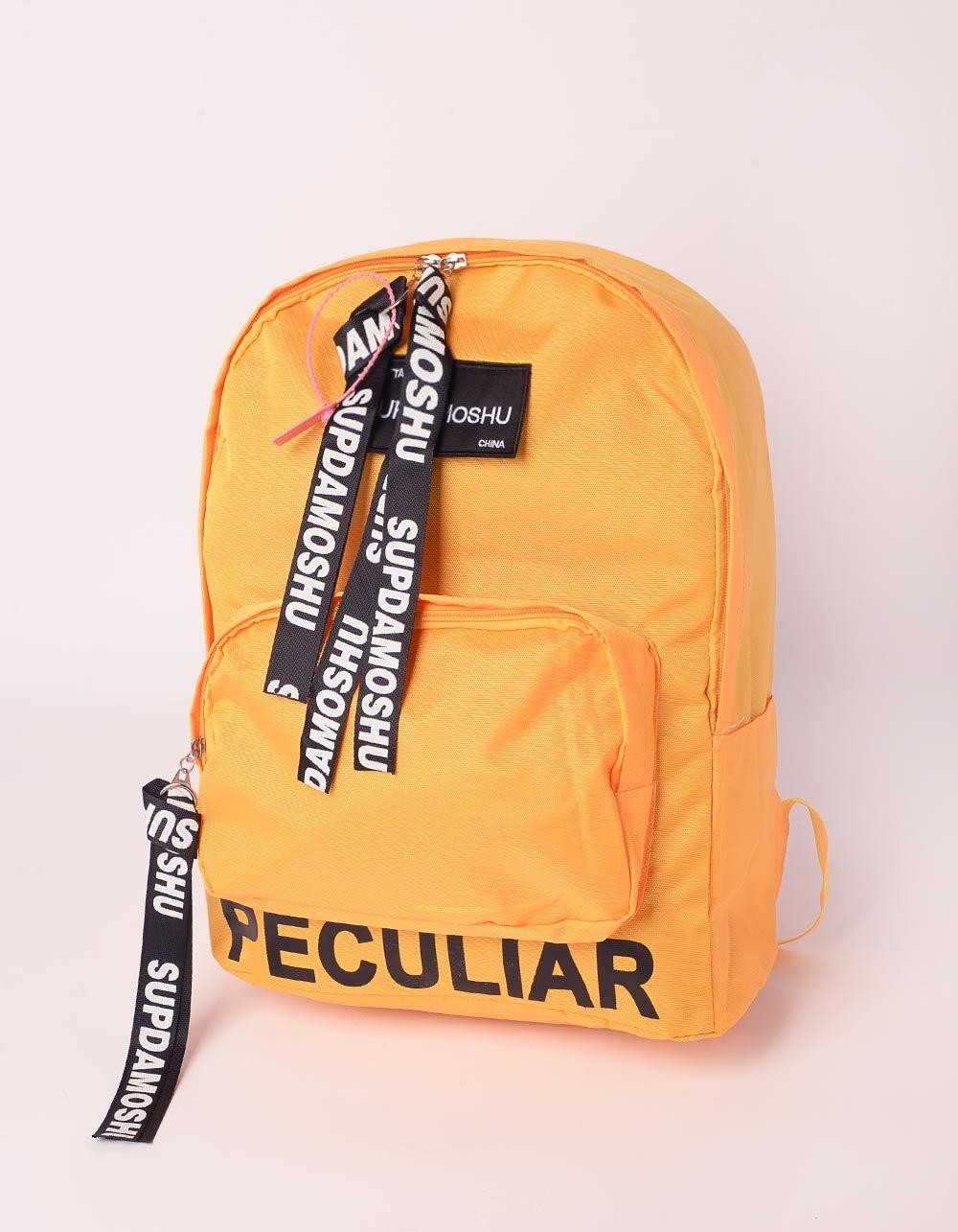 Рюкзак із тканини з написом | 239347-19-XX