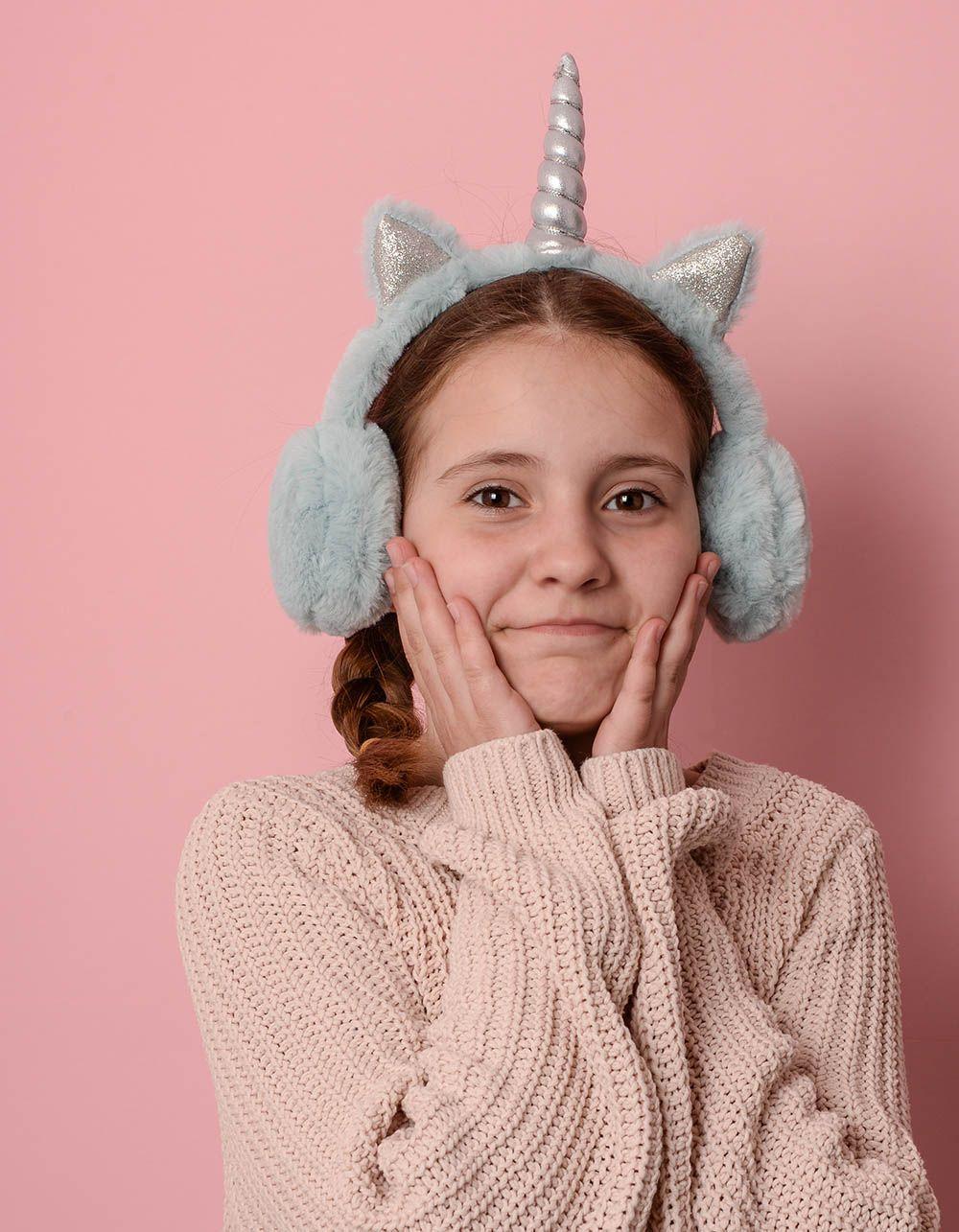 Навушники хутряні дитячі у вигляді єдинорога | 236377-18-XX