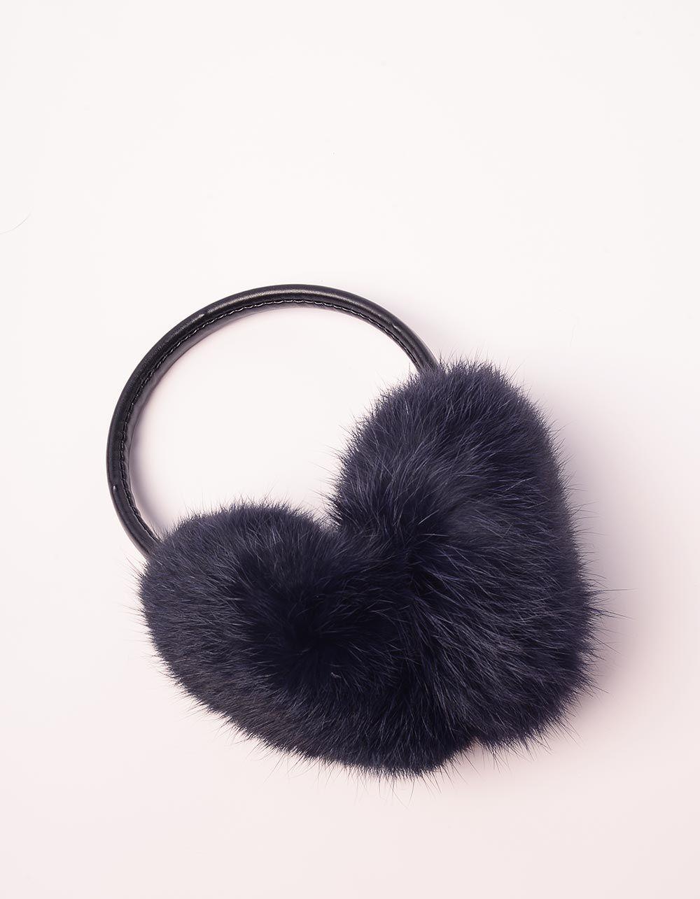Навушники хутряні з тонкою дужкою | 234294-30-XX