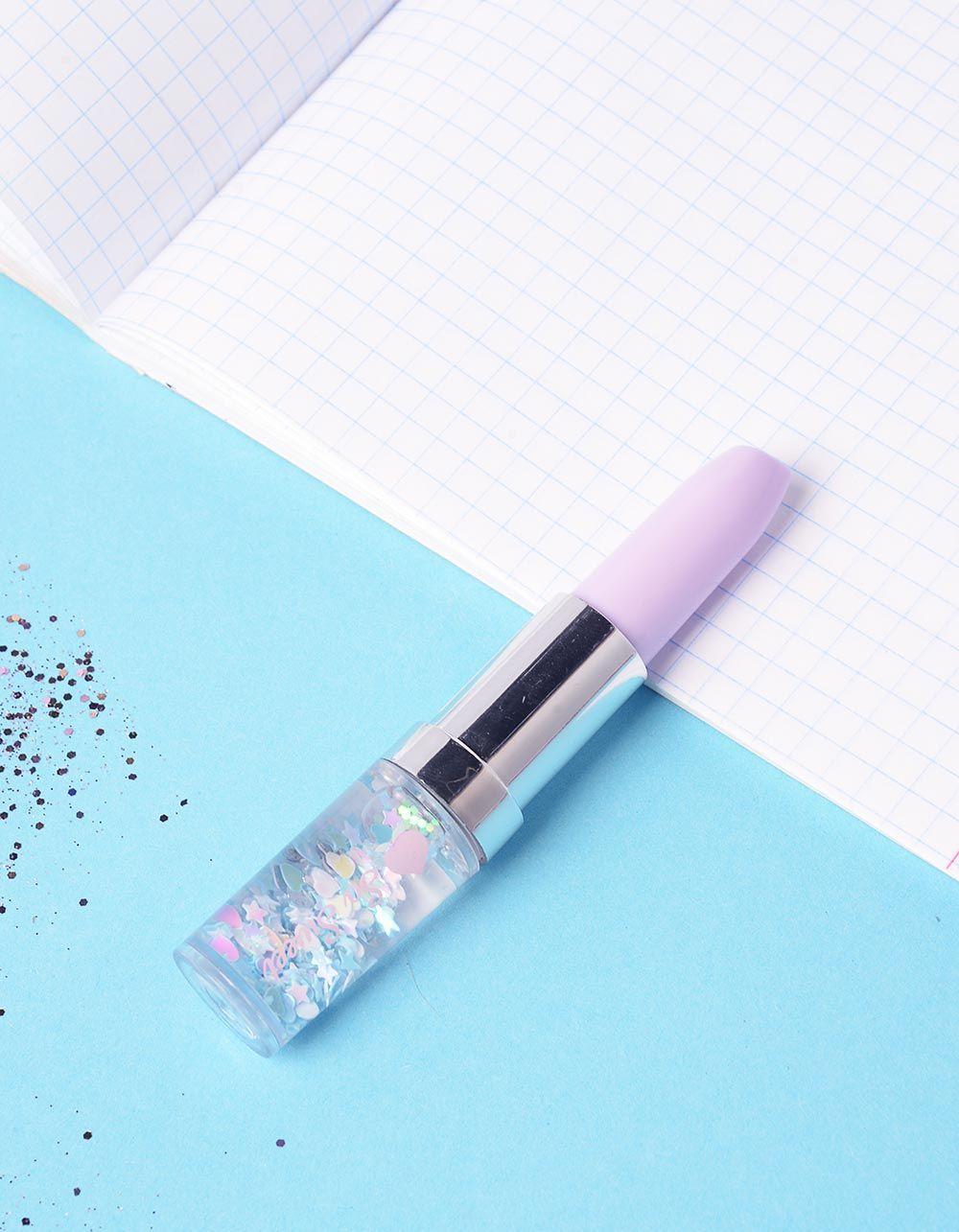 Ручка у вигляді помади з серцями та зірочками | 237003-35-XX
