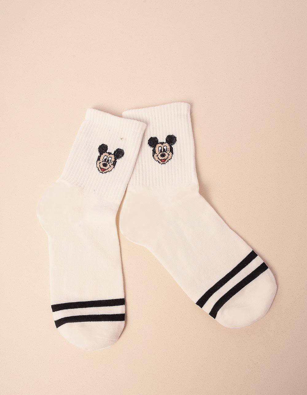 Шкарпетки з принтом мікі мауса у смужку | 238525-50-XX