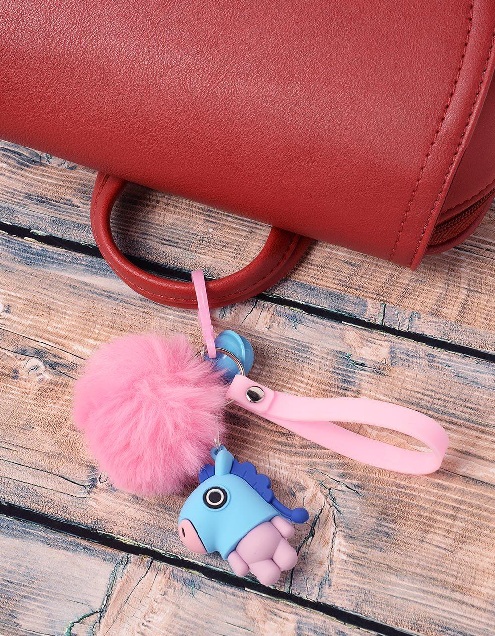 Брелок на сумку BTS з хутряним помпоном | 237368-18-XX