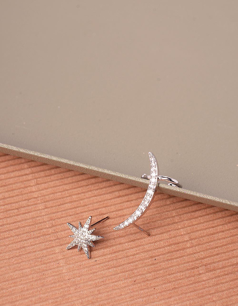 Сережки у вигляді напівмісяця та зірки | 240740-06-XX