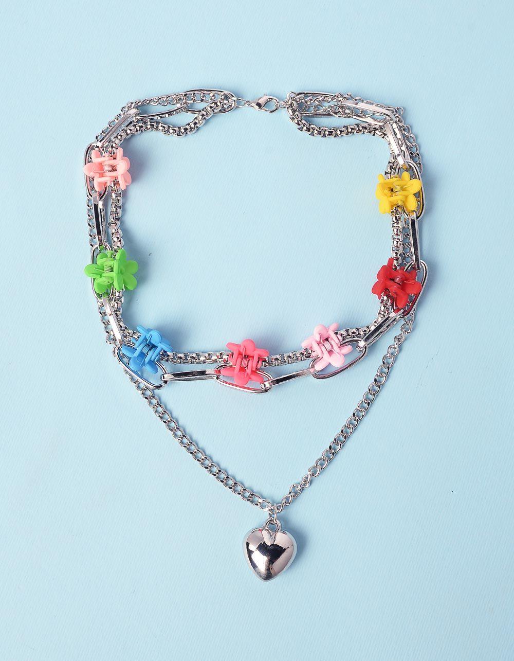 Підвіска із ланцюжків з кулоном у вигляді серця | 238714-21-XX
