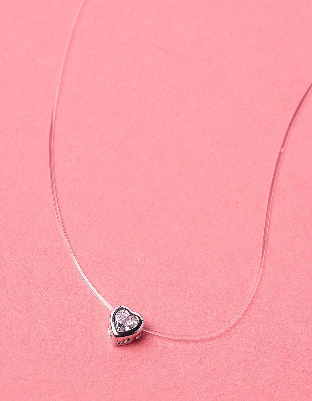 Чокер з волосіні з кулоном у вигляді серця | 234239-06-XX