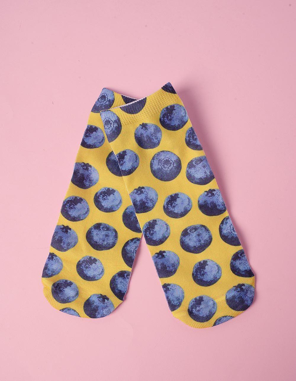 Шкарпетки з принтом чорниці | 240688-19-XX
