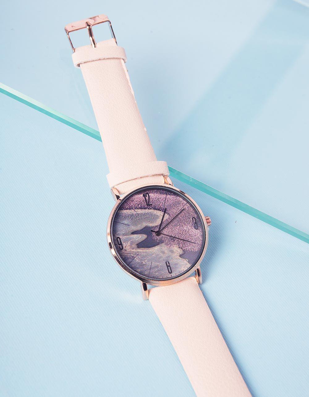 Годинник на руку з принтом хвиль | 237254-22-XX