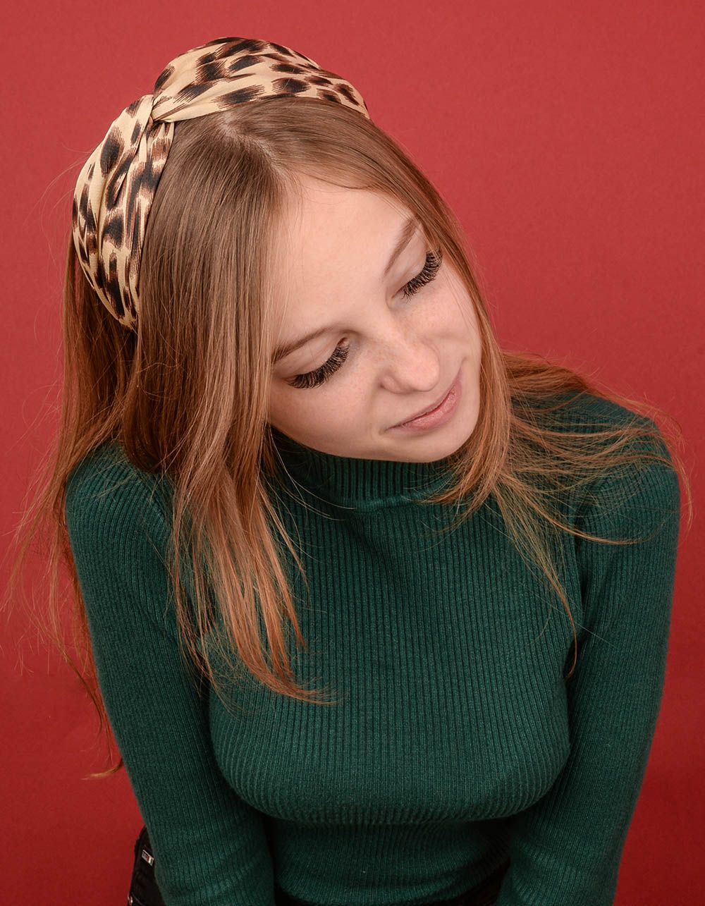 Обідок для волосся з леопардовим принтом | 239723-34-XX