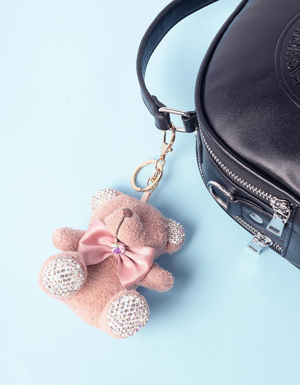 Брелок на сумку у вигляді ведмедика з камінчиками | 236674-71-XX