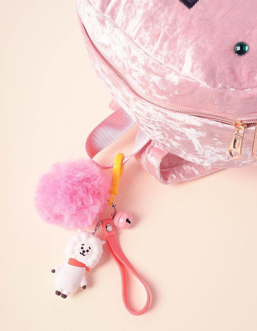 Брелок на сумку BTS з хутряним помпоном | 237368-14-XX
