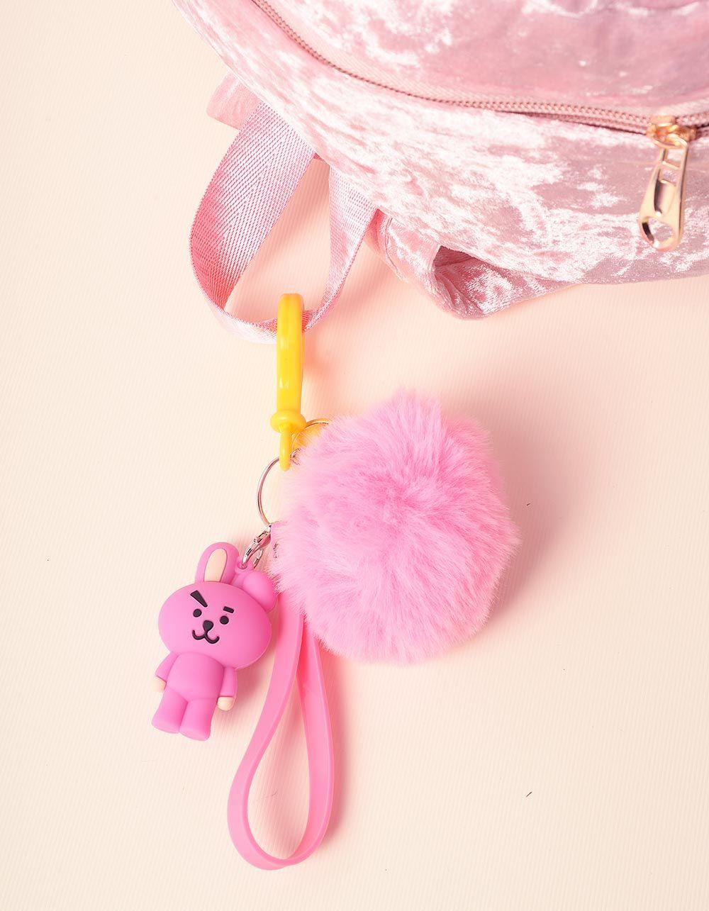 Брелок на сумку BTS з хутряним помпоном | 237368-17-XX