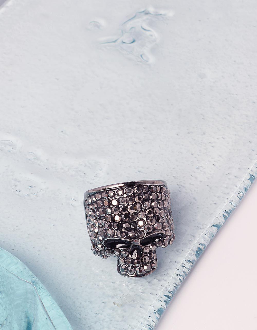 Перстень у вигляді черепа зі стразами | 240595-10-38