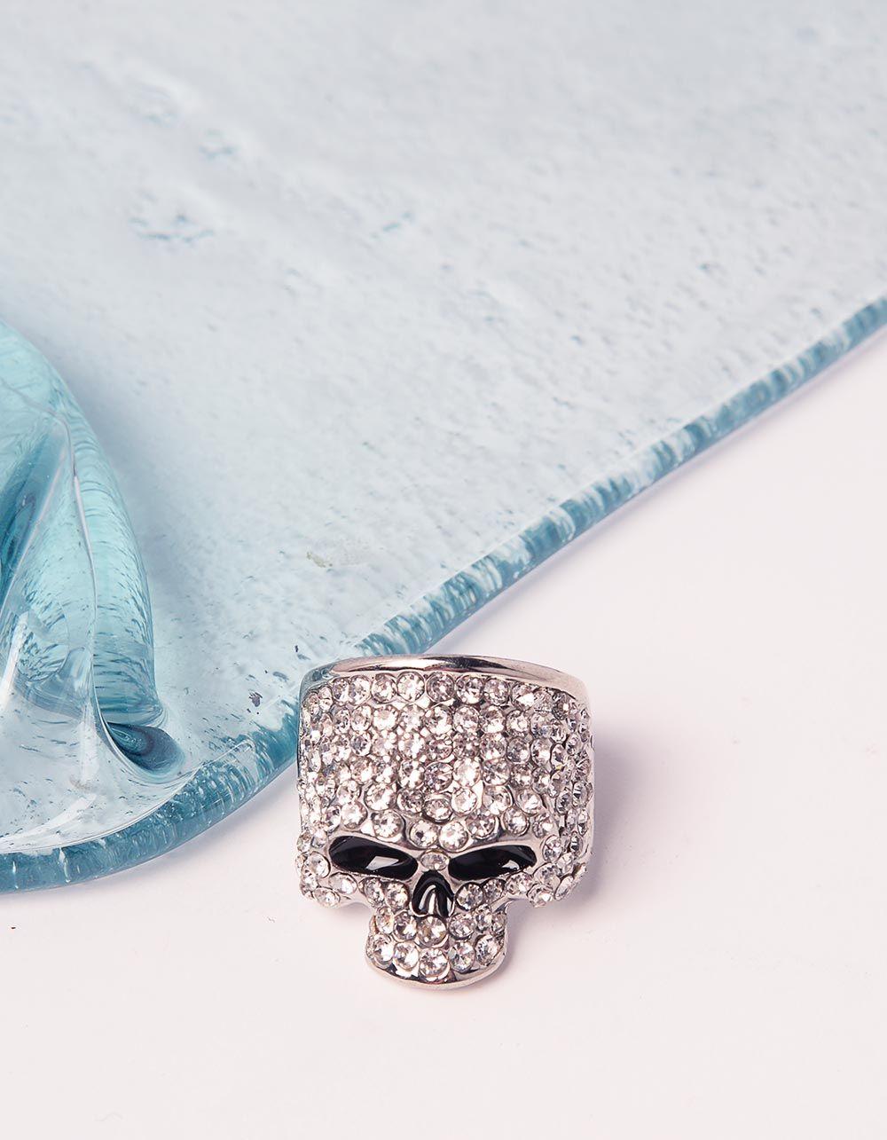 Перстень у вигляді черепа зі стразами | 240595-06-38