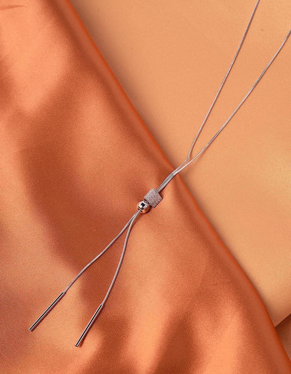 Підвіска на шию довга з намистиною інкрустована стразами | 240019-06-XX